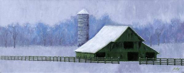 Barn Poster featuring the painting Turner Barn In Brentwood by Janet King