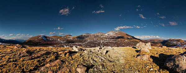 Fine Art Poster featuring the photograph Mount Bierstadt Panorama by Richard Steinberger