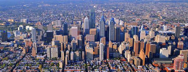 Philadelphia Pennsylvania 19103 Poster featuring the photograph Center City Aerial Photograph Skyline Philadelphia Pennsylvania 19103 by Duncan Pearson