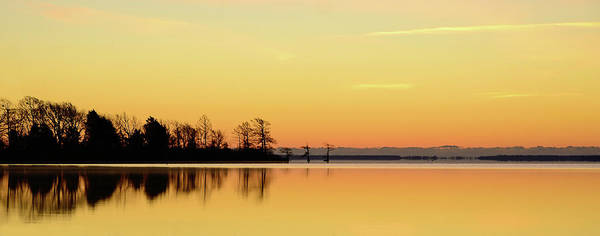 Horizontal Poster featuring the photograph Sunrise Over Lake by Patti White Photography