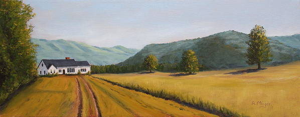 Painting Poster featuring the painting The Road Home by Alan Mager