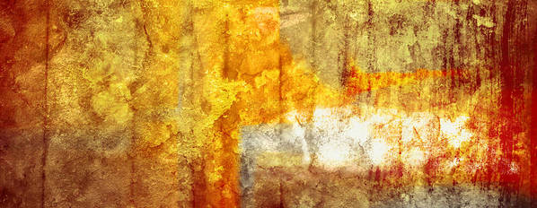 Brett Poster featuring the digital art Warm Abstract by Brett Pfister