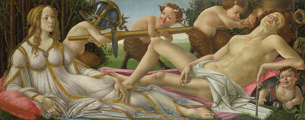 Sandro Botticelli Poster featuring the painting Venus And Mars by Sandro Botticelli