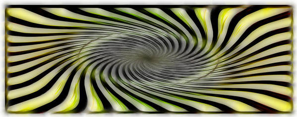 Abstract Poster featuring the digital art Abstrat by Galeria Trompiz