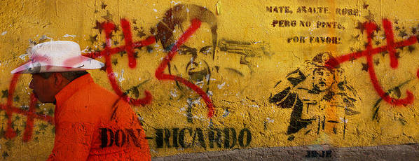 Grafitti Poster featuring the photograph Don-ricardo by Skip Hunt