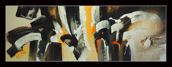 Abstract Poster featuring the painting Narration-tonal Value by Jacek Ungierat - Jung