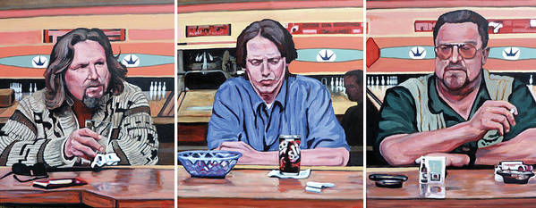 The Big Lebowski Poster featuring the painting Pause For Reflection by Tom Roderick