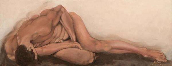 Figurative Poster featuring the painting Sleep by Jane Simpson