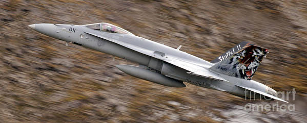 Aircraft Poster featuring the photograph f18 by Angel Tarantella