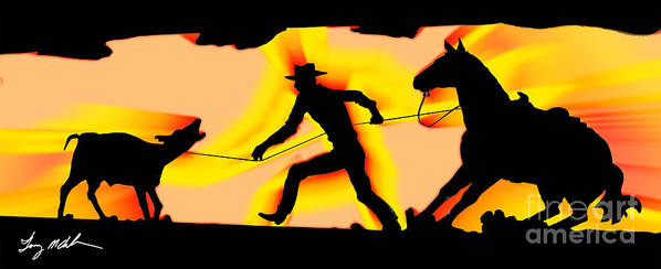 Cowboy Poster featuring the digital art A Taste Of Arizona by Tommy Anderson