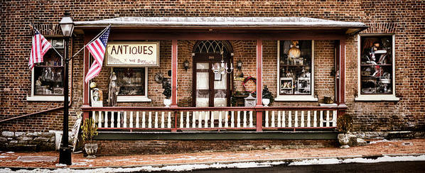 Shop Poster featuring the photograph Antiques Bought And Sold by Heather Applegate