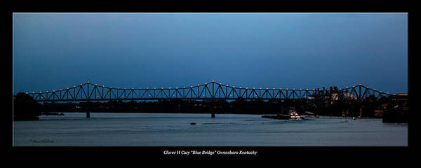 David Lester Poster featuring the photograph Clover H Cary Bridge by David Lester