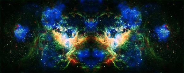 Tarantula Nebula Poster featuring the photograph Cosmic Reflection 2 by Jennifer Rondinelli Reilly - Fine Art Photography