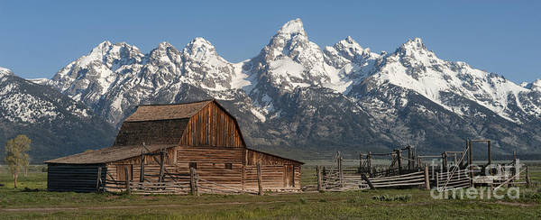Grand Teton Poster featuring the photograph Moulton Barn - Grand Tetons I by Sandra Bronstein