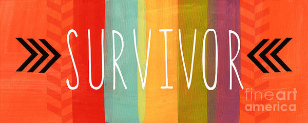 Survivor Poster featuring the mixed media Survivor by Linda Woods