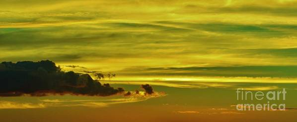 Cloud Shape Poster featuring the photograph Tropical Isle In The Sky by Craig Wood