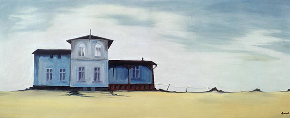 Ghost House Poster featuring the painting Wide Blue by Ana Bianchi