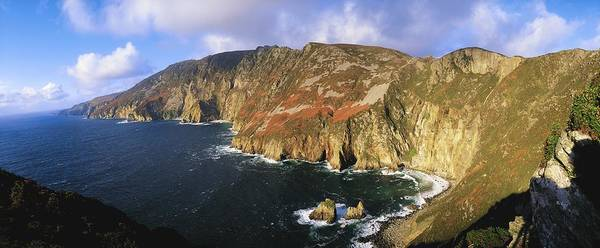Co Donegal Poster featuring the photograph Slieve League, Co Donegal, Ireland by The Irish Image Collection
