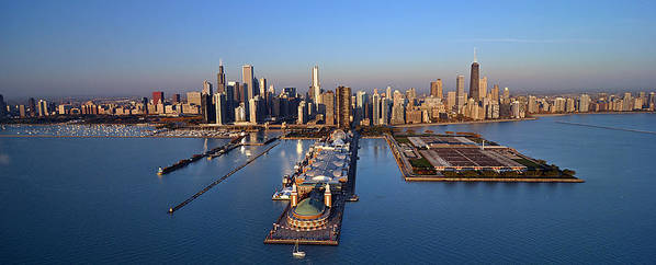 Chicago Poster featuring the photograph Chicago Skyline by Jeff Lewis