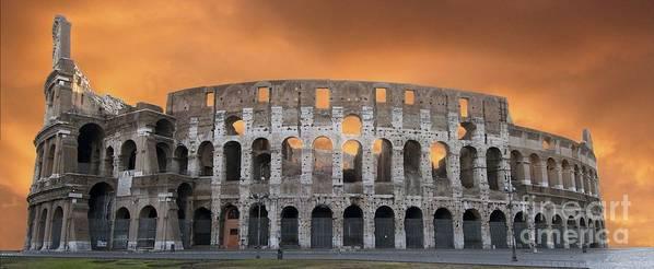 Worth Poster featuring the photograph Colosseum. Rome by Bernard Jaubert