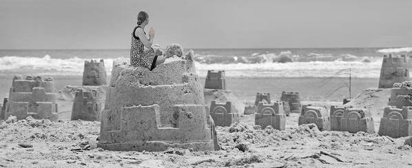 Sandcastle Poster featuring the photograph Hope by Betsy Knapp