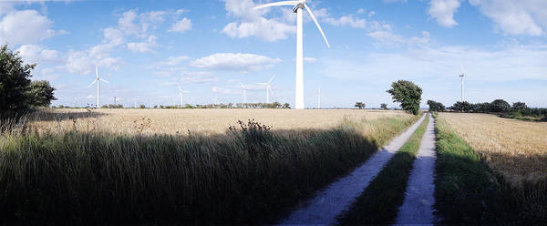 Wind Poster featuring the photograph Wind Farm - Skaane by Jan W Faul