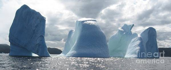 Iceberg Photograph Ice Water Ocean Altantic Newfoundland Summer Poster featuring the photograph Iceberg by Seon-Jeong Kim