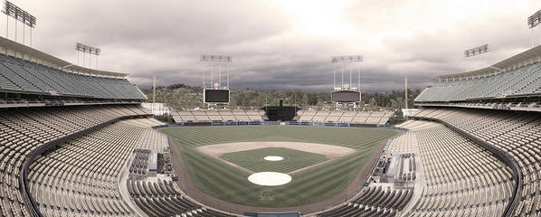 Dodgers Poster featuring the photograph Calm Before The Blue Storrm by Esteban Ramirez