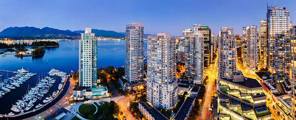 Coal Harbour Poster featuring the photograph Coal Harbour In Vancouver by Alexis Birkill