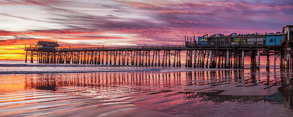 Cocoa Pier Poster featuring the photograph Cocoa Pier Sunrise by James McGinley