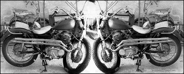 Motor Cycle Poster featuring the photograph Confrontation With Death by Gerard Yates
