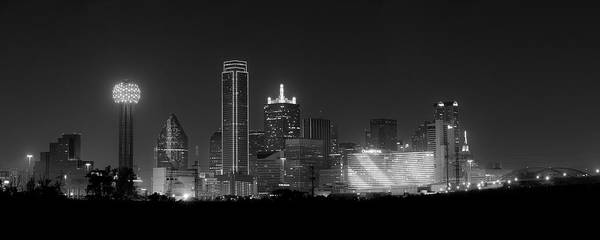 Dallas Poster featuring the photograph Dallas Bw by David Downs