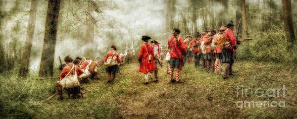 War Poster featuring the digital art Fog Of War Battle Scene by Randy Steele