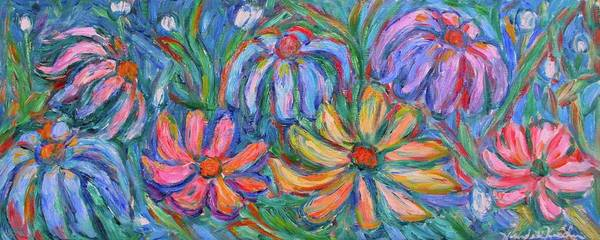 Flowers Poster featuring the painting Imaginary Flowers by Kendall Kessler