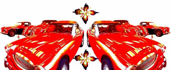 Cars Poster featuring the photograph Ladies In Red by Erika Brown