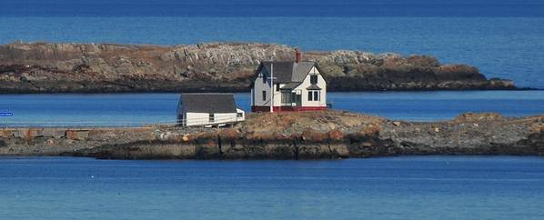 Little Brewster Island  Home To Boston Light Poster featuring the photograph Little Brewster Island by Bill Driscoll