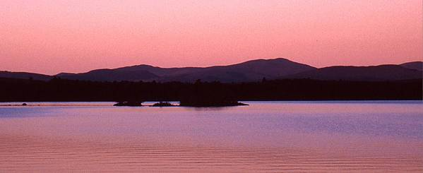 Panorama Poster featuring the photograph Panorama-predawn Lake Umbagog by Roger Soule