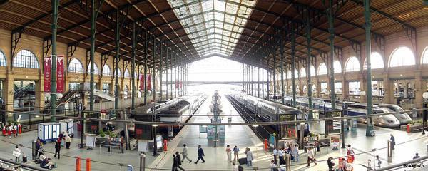 Paris Poster featuring the photograph Paris Train Station by Al Blackford