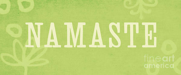 Namaste Poster featuring the painting Namaste by Linda Woods