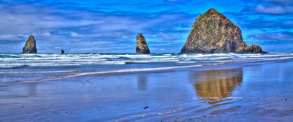 Cannon Beach Poster featuring the photograph Beautiful Haystack Rock And The Needles by David Patterson