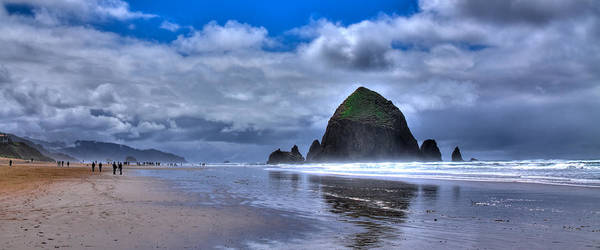 Cannon Beach Poster featuring the photograph Haystack Rock Iva by David Patterson