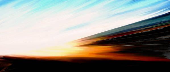 High Speed Poster featuring the digital art High Speed 6 by Rabi Khan