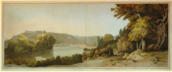 Francis Towne - Veduta Del Tevere Poster featuring the painting Veduta Del Tevere  by Celestial Images