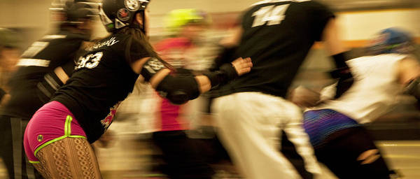 Sports Poster featuring the photograph Roller Derby by Theresa Tahara