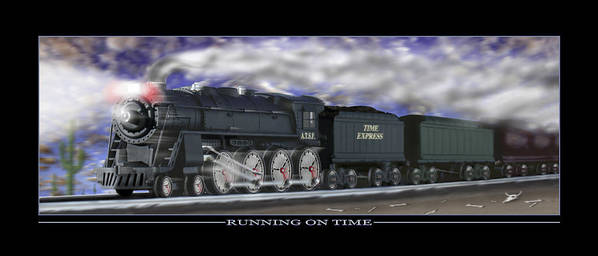 Time Related Art Poster featuring the photograph Running On Time by Mike McGlothlen