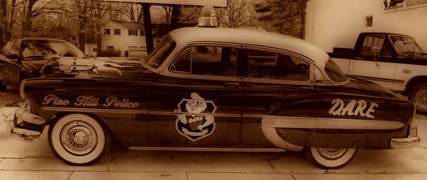 Vintage Police Car Poster featuring the photograph Vintage Classic D.a.r.e. Police Car by Thomas MacPherson Jr