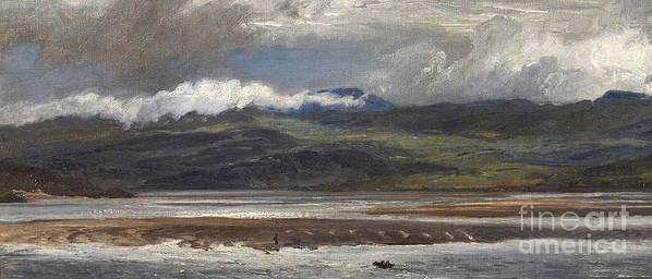 Seascape Poster featuring the painting After Rain by Henry Moore