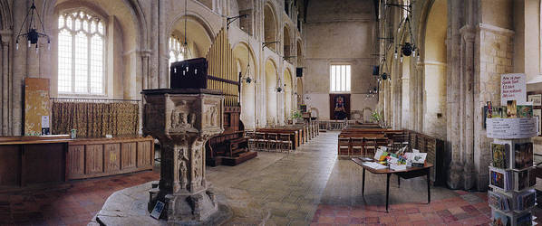 Church Poster featuring the photograph Binham Priory by Jan W Faul