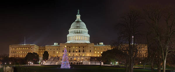 Metro Poster featuring the photograph U.s. Capitol Christmas Tree 2009 by Metro DC Photography