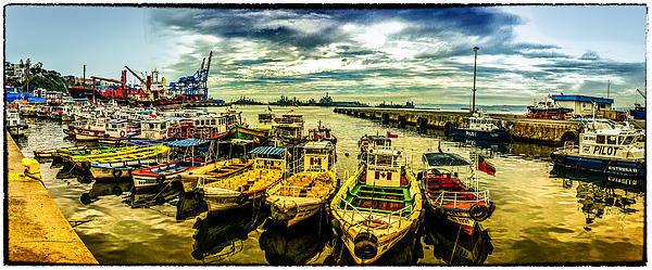 Valparaiso Poster featuring the photograph Valparaiso Bay by Peter Crass